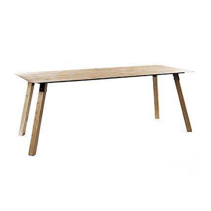 Table 200x80x75cm bois et métal