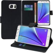Vcomp - Housse Coque Etui portefeuille Support Video Livre rabat cuir Pu pour Samsung Galaxy Note5 Sm-n920T/ Note 5 Duos Dual Sim, / Note5 CDMA, N920V N920P N920R N920A - Noir