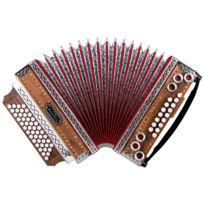 """Alpenklang - 4/III accordéon """"Deluxe"""" LaMib-Lab-Réb noyer"""
