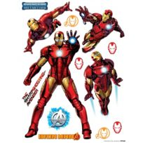 Bebegavroche - Stickers géant Iron Man Marvel Postures