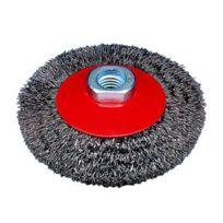 Osborn - Brosse conique, fil ondulé avec filetage ou alésage pour meuleuses d'angle 512 161-0002