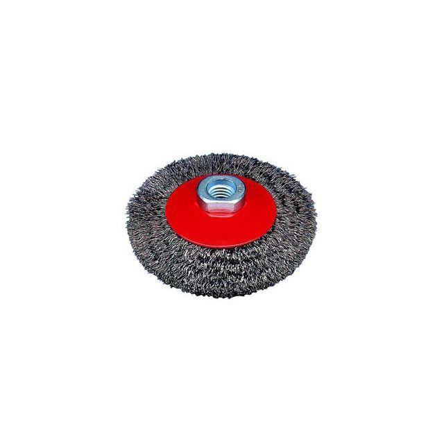 Topcar - Brosse conique, fil ondulé avec filetage ou alésage pour meuleuses d'angle Osborn 512 161-0002