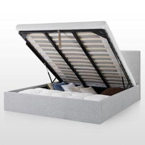 confort lit coffre 140x190 cm spirit gris 140cm x 190cm pas cher achat vente. Black Bedroom Furniture Sets. Home Design Ideas