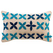 Winkler - Coussin Limo Ficelle/TURQUOISE 50 X 30