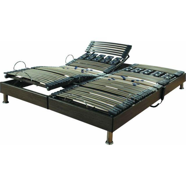 ebac lit lectrique 90 90x200 s97 marron 180 2x90cm x 200cm pas cher achat vente literie. Black Bedroom Furniture Sets. Home Design Ideas