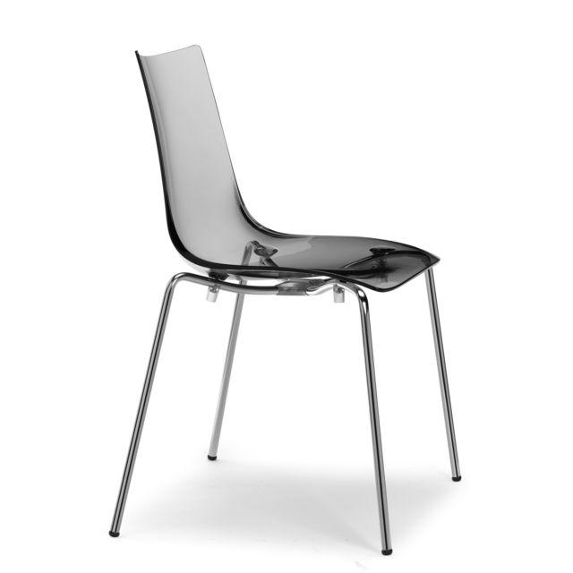 Chaise Vanity Design Par Scab: Chaise Zebra Antishock 4 Pieds