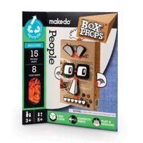 Makedo - 2704040 - Kit De Loisirs CrÉATIFS - Boxprops - Faces - Personnes Parties RÉUTILISABLES