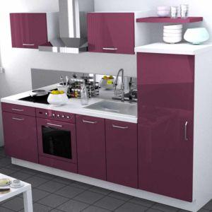 cuisine am nag e longueur 200cm avec meuble four demi colonne strass pas cher achat vente. Black Bedroom Furniture Sets. Home Design Ideas