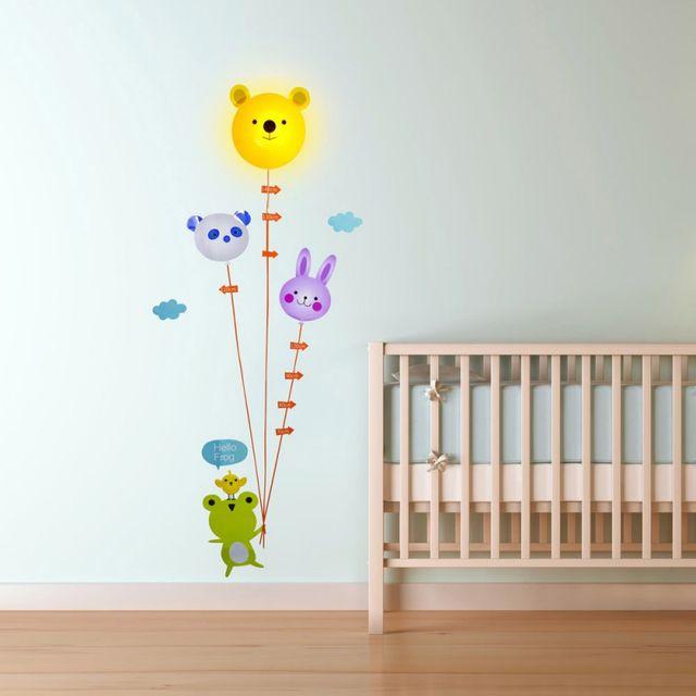 Kas Design Lampe et Stickers Toise Ourson et Ballons