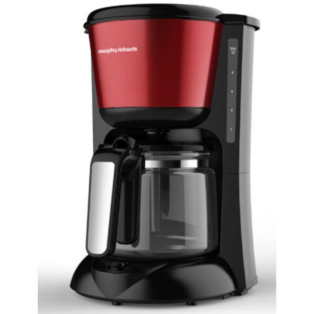 MORPHY RICHARDS cafetière 12 tasses 1000w rouge/noir - m162752ee