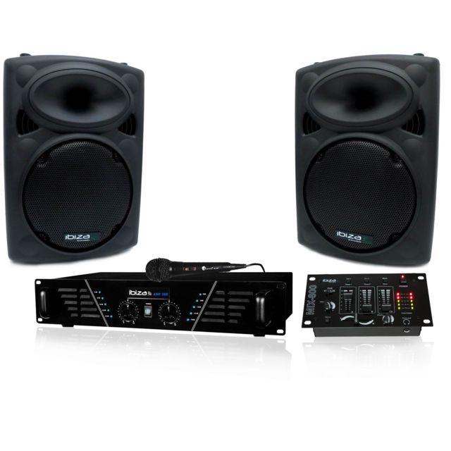 Ibiza Pack Sono Dj300 Mkii Amplificateur 2 x 240W + Hp