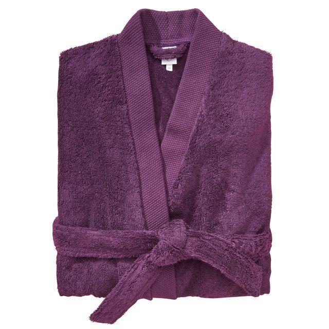 TEX HOME Peignoir EPONGE BIO col kimono