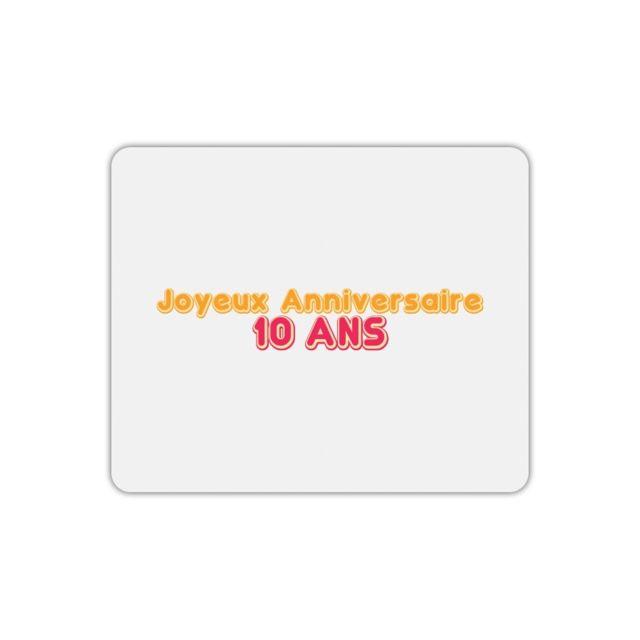 Mygoodprice Tapis De Souris Joyeux Anniversaire 10 Ans 2 Pas