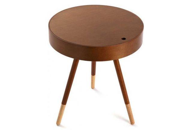 Declikdeco Table D'Appoint Style Scandinave En Bois Foncé D46 Celestine