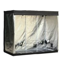 OUTSUNNY - Chambre de culture hydroponique tente de culture grow box 2,4L x 1,2l x 2H m polyester mylar noir neuf 51