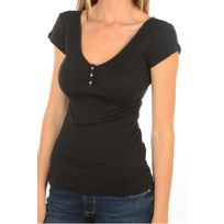 Guess - Tee Shirt Cotelé Décolleté W5fp99 - Jeans