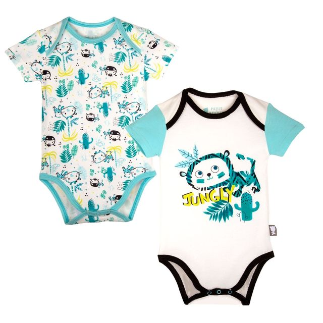 Petit Beguin - Lot de 2 bodies manches courtes bébé garçon Natéo - Taille -  3 0dc1d9cfb24