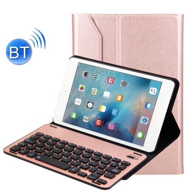 wewoo clavier or rose pour ipad mini 4 amovible en alliage d 39 aluminium bluetooth peau de. Black Bedroom Furniture Sets. Home Design Ideas