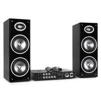 "LTC - 3D-BT Karaoke Star système HiFi Bluetooth USB 80W RMS 16,5cm 6,5"", enceintes"