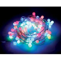 No Name - Guirlande lumineuse 8 m. boules - 100 Leds multicolores - Illumination de Noël - Animation lumière - Intérieur et extérieur