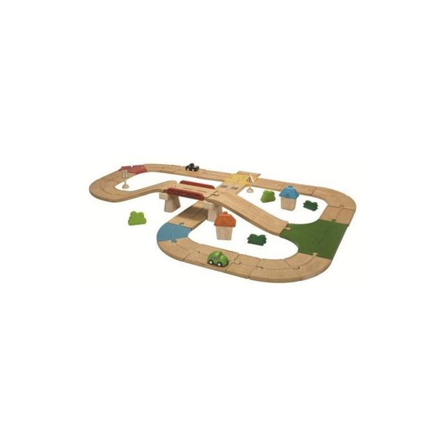 Plan Toys Jeu en bois Circuit Routes