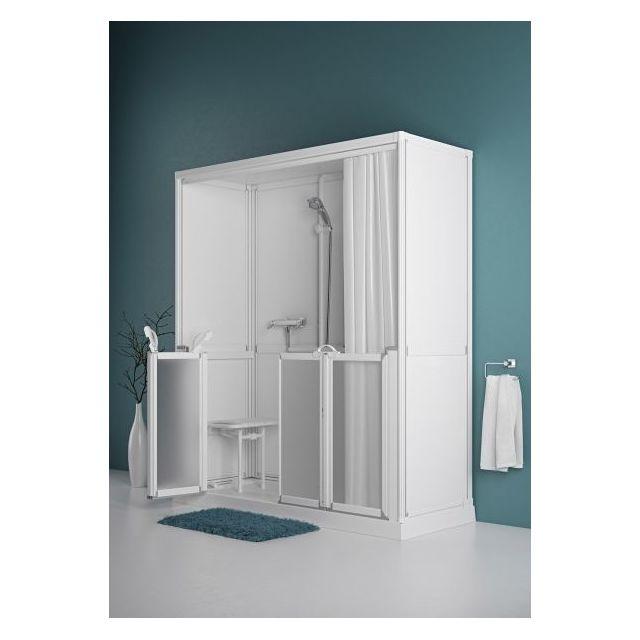 akw cabine de douche 700x1200mm avec receveur low profile option n accessibilit pmr pas. Black Bedroom Furniture Sets. Home Design Ideas