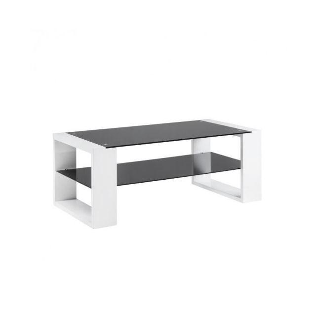 Usines Vera Laqué Noir Basse 120x60cm Et Table Discount Blanc tCBhrsxQdo