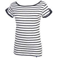 Elegance Oceane - Tee shirt manches courtes Bigue blanc tee Blanc 36284