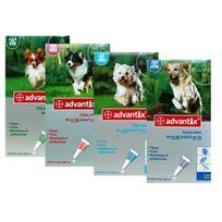 Advantix - soin antiparasitaire pour chiens 4/10 kg Boîte de 4 Pipettes de 1 ml