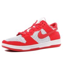 940d443b2b309 Nike - Dunk Flyknit Homme Chaussures Rouge Multicouleur 40