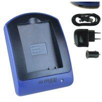 mtb more energy® - Chargeur USB/Auto/Secteur, pour En-el14a / Nikon Df, D3300, D3400, D5300, D5500 / Coolpix P7800 - v. liste