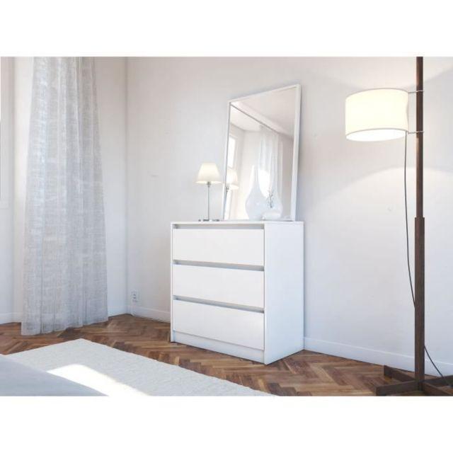 COMMODE DE CHAMBRE MAO Commode de chambre - Contemporain - Blanc mat - L 80 cm