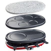 Hkoenig - Appareil A Raclette 4 En 1 Raclette Crepiere Grill Pierre A Griller Rp418 H.KOENIG 1500W