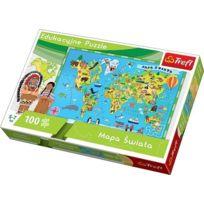 Trefl - 57999 - Puzzle Classique - Monde - 100 PiÈCES