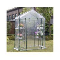 Mini serre souple de jardin avec structure en acier WILSONEA 1m² - L143 x  l73 x H195cm