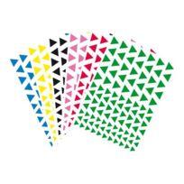 Majuscule - gommette triangulaire mj - blister de 816
