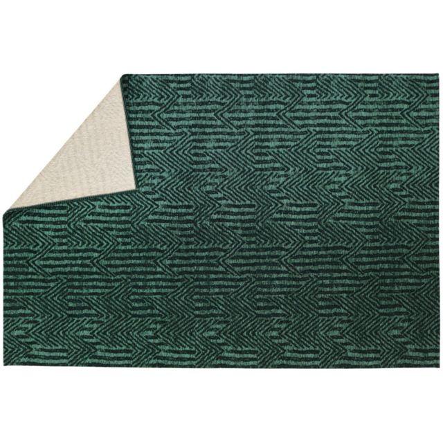 Vivabita - Tapis vert émeraude rectangulaire plat Etica