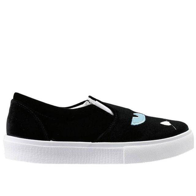 Chiara Ferragni Femme Cf690 Noir Velours Chaussures De