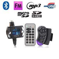 Yonis - Transmetteur Fm Bluetooth télécommande voiture kit main libre Usb