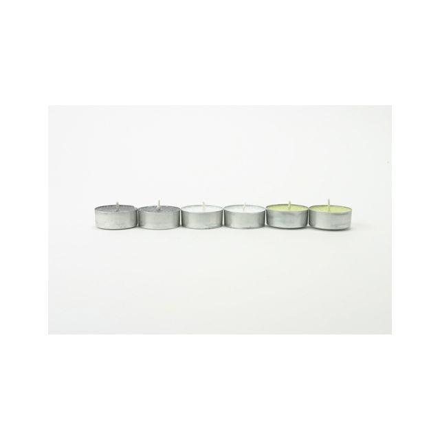 Comptoir Des Bougies Lot de 6 bougies parfumées Zen - Vert, ardoise et blanc
