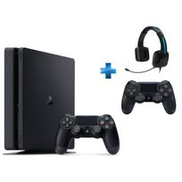 PS4 1To Chassis D NR SLIM + Dual Shock 4 - V2 - NOIRE + TRITTON KAMA
