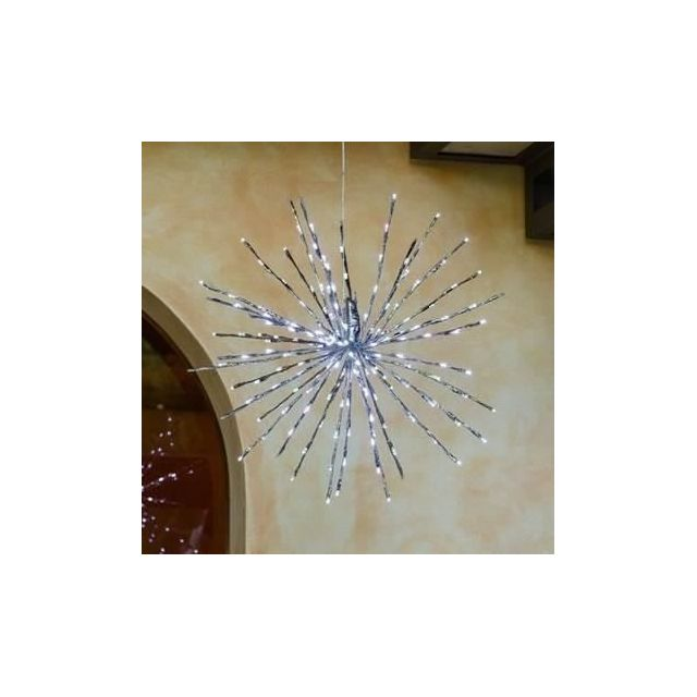 DECORATION LUMINEUSE Bouquet LED Blachere 31 V - Ø 30 cm - 48 LED blanc pur fixe + 16 LED blanc pur flash