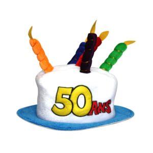 marque generique chapeau g teau anniversaire 50 ans pas cher achat vente articles de f te. Black Bedroom Furniture Sets. Home Design Ideas