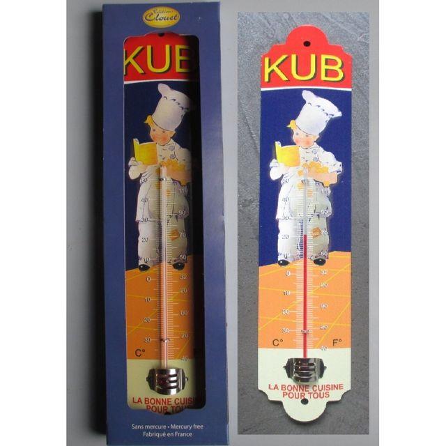 Universel Thermometre Kub bouillon marmitton bleu rouge deco cuisine