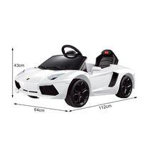 LAMBORGHINI - Aventador voiture véhicule électrique pour enfants 6 V 3-4 Km/h phares musique télécommande blanc 03WT