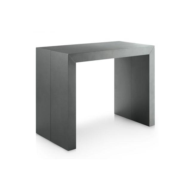 Gris Extensible 4 Neg'import Xl Console Extense Table Rallonges jAR34L5