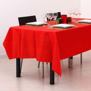 Eminza nappe rectangulaire l240 cm picot rouge pas for Eminza magasin