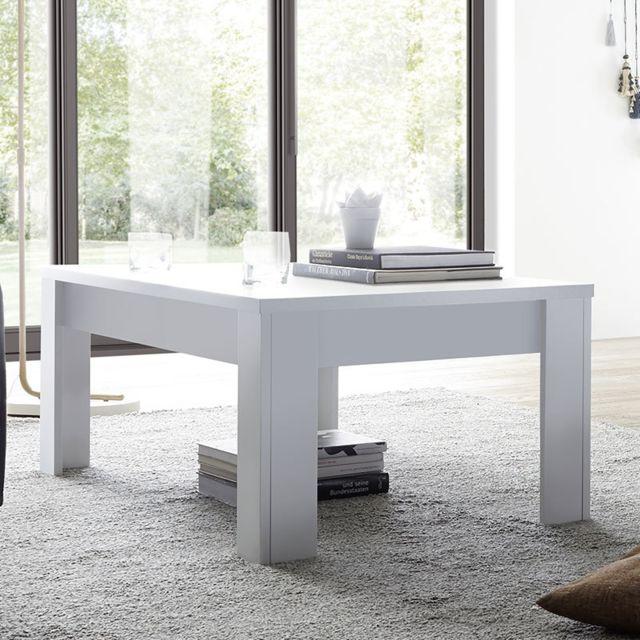 Nouvomeuble Table Basse Design Blanc Laque Palazio Pas Cher
