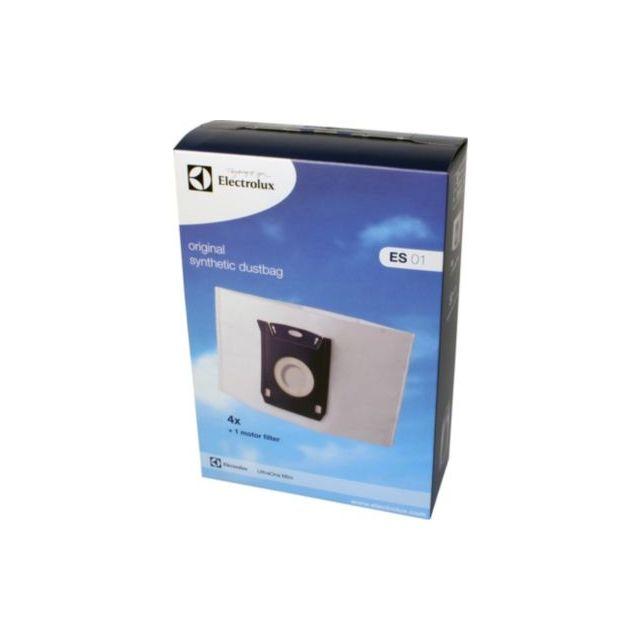 Electrolux Sac aspirateur Es01 Pour Ultra One Mini Compatible : Aspirateur traîneau Filtre : 1 Livré avec : Sac aspirateur: 4, Filtre: 1 Code sac (crosselling) : 145580 ...