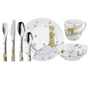 wmf coffret vaisselle pour enfants 7 pi ces en porcelaine et inox le petit prince pas cher. Black Bedroom Furniture Sets. Home Design Ideas